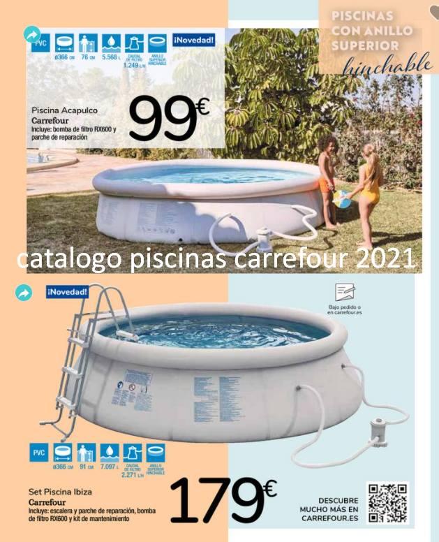 catalogo piscinas carrefour 2021 precios
