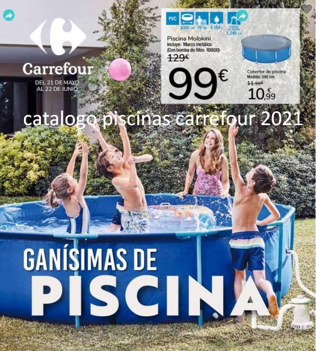 catalogo piscinas carrefour 2021