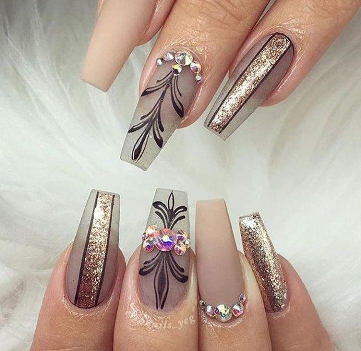 1001 + ideas sobre uñas francesas decoradas 2018   Uñas